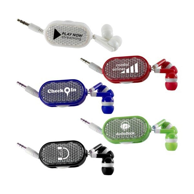 Clip-on Retractable Earbuds