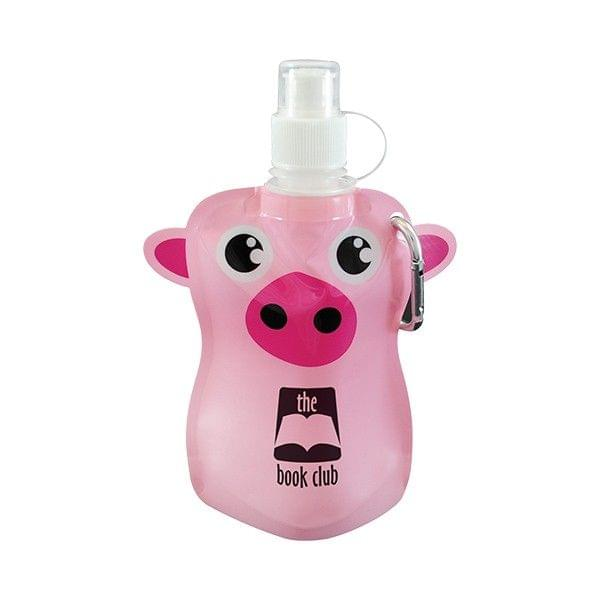 12oz. Paws N Claws Flat Bottle