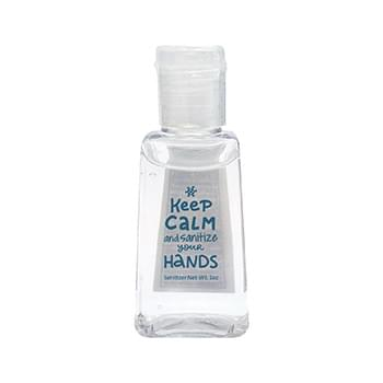 1 oz. Flat Bottle Hand Sanitizer Gel